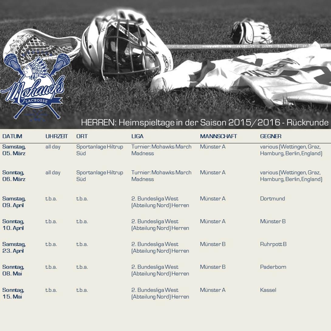 2015_2016-2 (Rückrunde) Herren_Ankündigung Heimspieltage Münster Mohawks