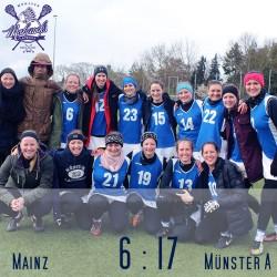 Mohawks Spieltagsergebnis quadratisch Damen Münster A